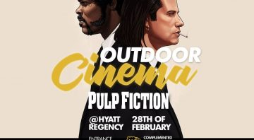 The bi-monthly outdoor movie screening at Metro
